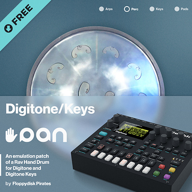 Handpan Emulation Patch for Digitone and Digitone Keys by Floppydisk Pirates