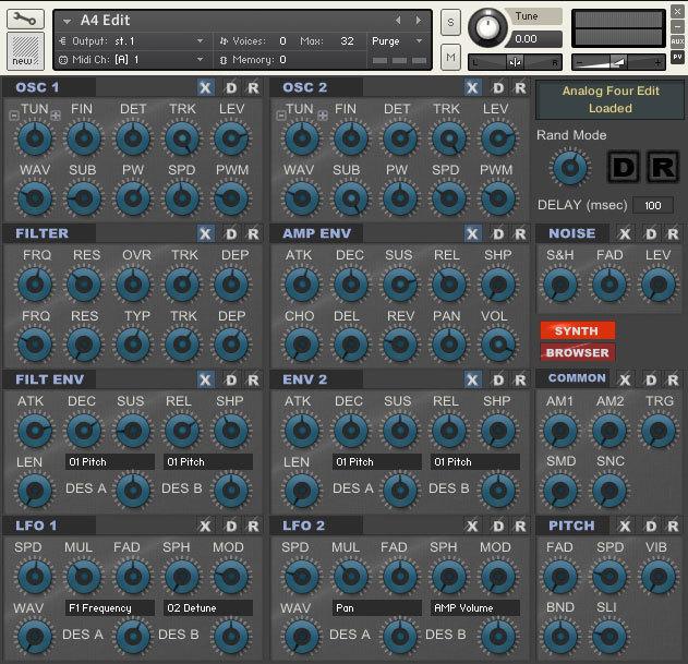 A4 Edit for Kontakt 5 3 - Analog Keys/Four - Elektronauts
