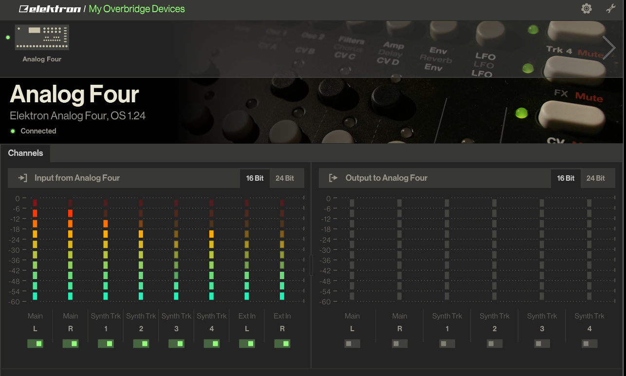 External input channel not working in Ableton - Overbridge