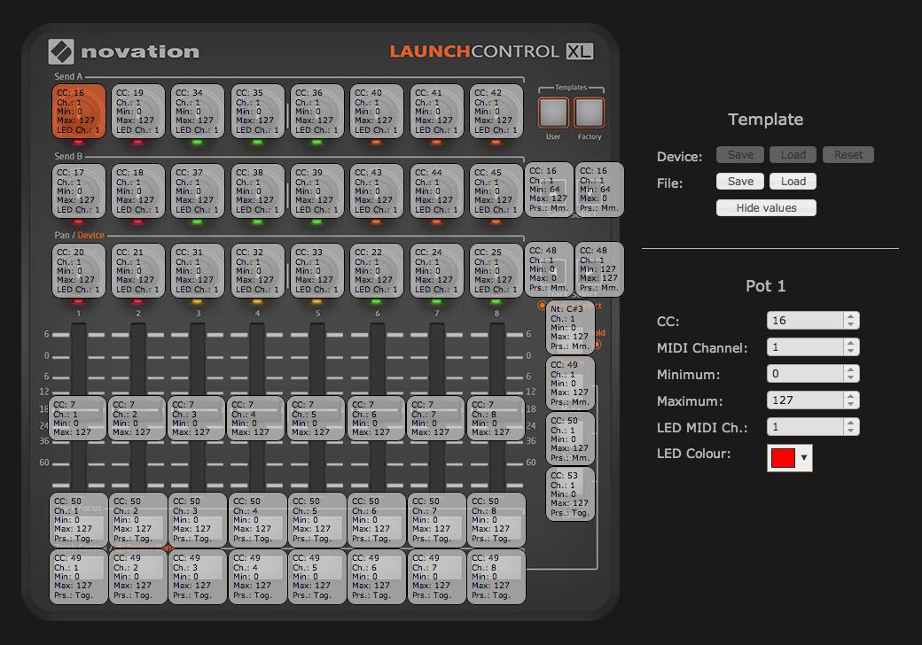Midi Novation Launch Control XL LCXL + Ableton + Octatrack