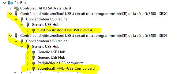 Device manager USB